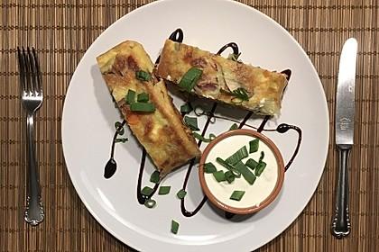 Ofenpfannkuchen mit Gemüse und Feta 54