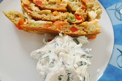 Ofenpfannkuchen mit Gemüse und Feta 42
