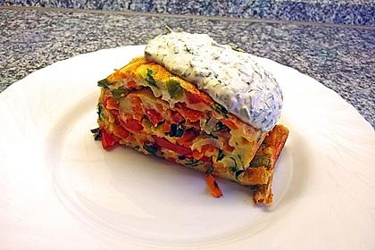 Ofenpfannkuchen mit Gemüse und Feta 7