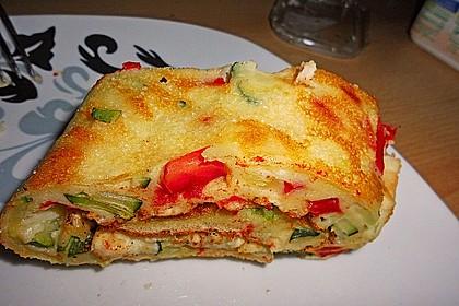 Ofenpfannkuchen mit Gemüse und Feta 13