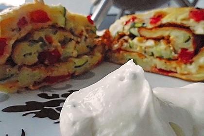 Ofenpfannkuchen mit Gemüse und Feta 37