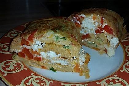Ofenpfannkuchen mit Gemüse und Feta 52
