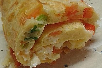 Ofenpfannkuchen mit Gemüse und Feta 20