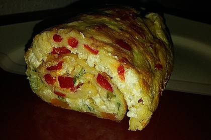 Ofenpfannkuchen mit Gemüse und Feta 43
