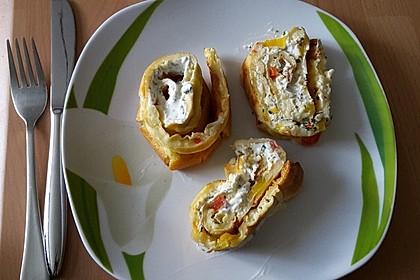 Ofenpfannkuchen mit Gemüse und Feta 39