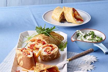 Ofenpfannkuchen mit Gemüse und Feta 6