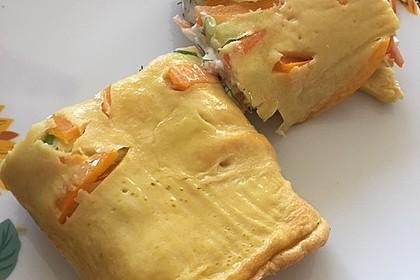 Ofenpfannkuchen mit Gemüse und Feta 45
