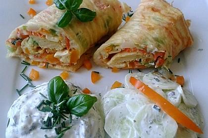 Ofenpfannkuchen mit Gemüse und Feta 3