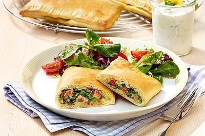 Pizzataschen mit Spinat