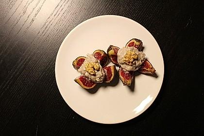 Feigensterne mit Roquefort