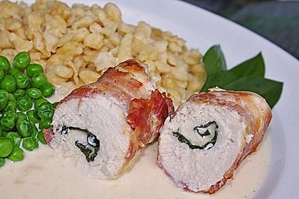 Hähnchenbrust-Bärlauch-Rouladen mit Bacon und Käse 4