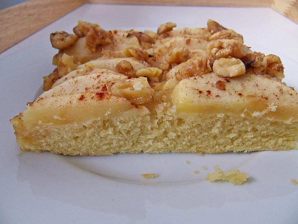 Apfel Walnuss Kuchen Mit Ahornsirup Von Reispapier Chefkoch De