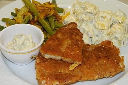Backfisch mit Kartoffelsalat und Remoulade 2