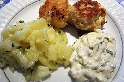 Backfisch mit Kartoffelsalat und Remoulade 6