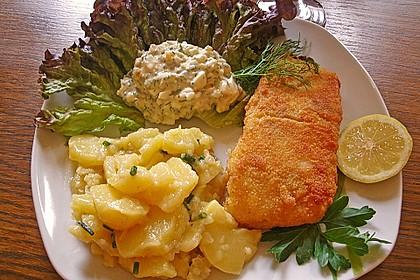 Backfisch mit Kartoffelsalat und Remoulade 1