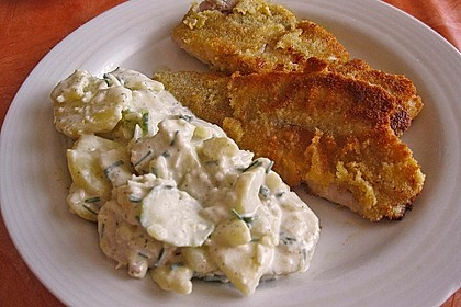 Backfisch mit Kartoffelsalat und Remoulade 3