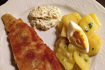 Backfisch mit Kartoffelsalat und Remoulade 4