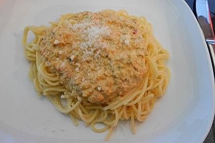 Dinkel-Spaghetti mit kalabrischem Pesto 2
