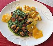 Gnocchi mit Spinat-Orangensauce (Bild)