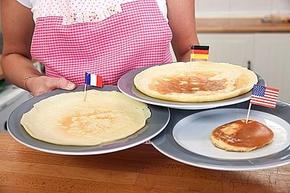 Pfannkuchen, Crêpe und Pancake