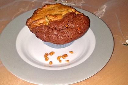 Erdnussbutter-Nutella-Muffins