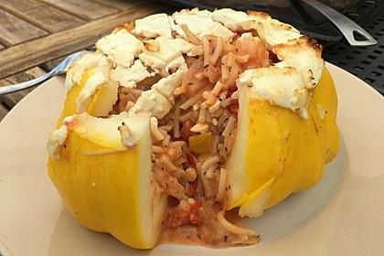 Vegetarische gefüllte Zucchini auf griechische Art 15