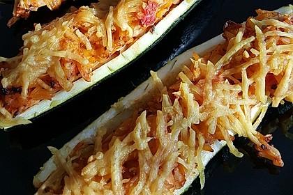 Vegetarische gefüllte Zucchini auf griechische Art 6