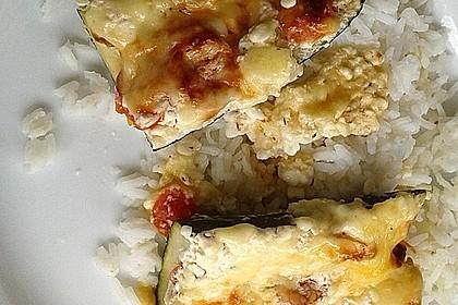 Vegetarische gefüllte Zucchini auf griechische Art 21