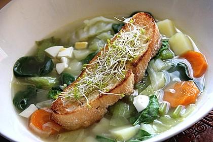 Grüner Borschtsch - ukrainische Suppe
