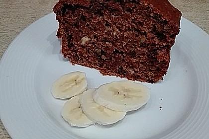 Veganes Bananenbrot mit Schokolade und Nüssen (Bild)