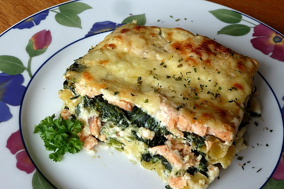 Lachs Spinat Lasagne Von Kochmaus667 Chefkoch