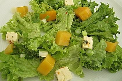 Blattsalat mit Mango und Feta 2