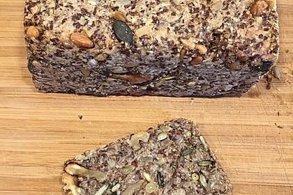 Brot mit Flohsamen 4