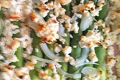 Grünspargeltarte mit Hirtenkäse