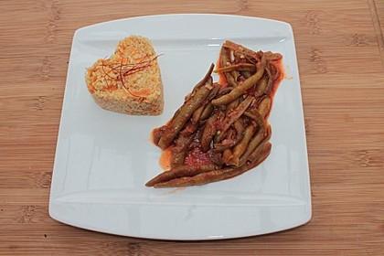 Bohnengemüse mit Käsebulgur 1