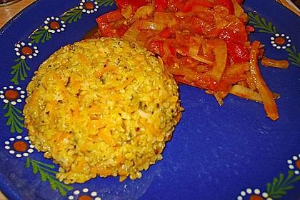 Bohnengemüse mit Käsebulgur 5
