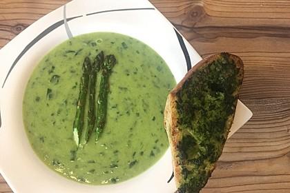 Spargel-Bärlauch Suppe