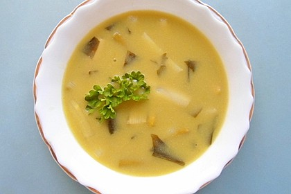 Spargel-Bärlauch Suppe 1