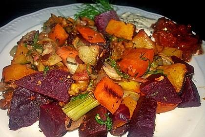 Geröstetes Walnuss-Gemüse