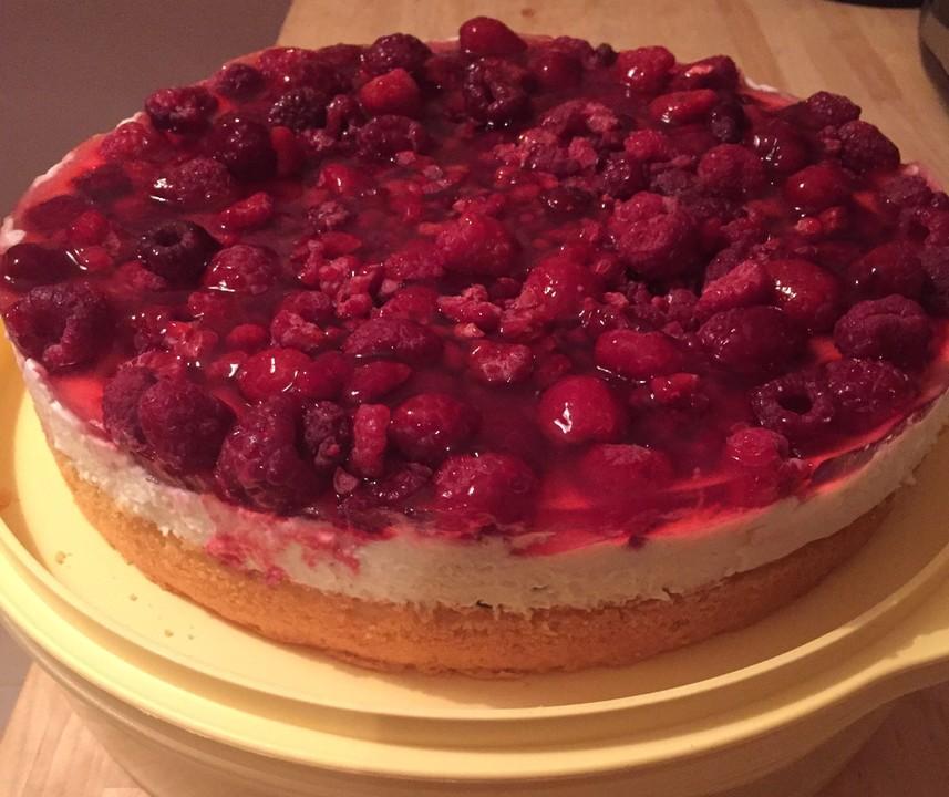 Schnelle Himbeer Joghurt Torte Von Thesunny Chefkoch De