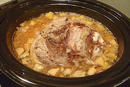 Eisbein mit Sauerkraut für den Slow Cooker