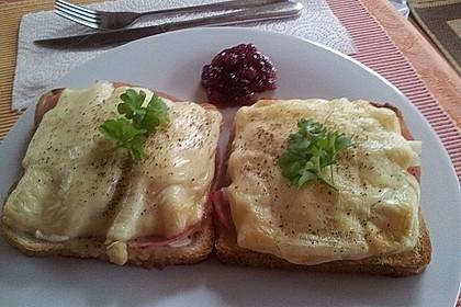 Spargel-Schinken-Toast überbacken
