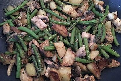 Kartoffel-Bohnen-Champignon-Pfanne 1