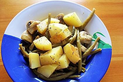 Kartoffel-Bohnen-Champignon-Pfanne 3