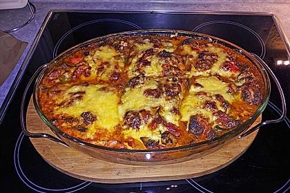 Pizzasuppe überbacken (Bild)