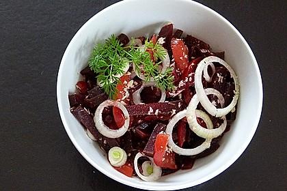 Tomatensalat mit Rote Bete