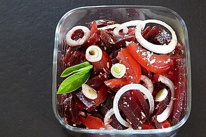 Tomatensalat mit Rote Bete 2
