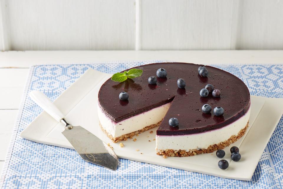 Blueberry Cheesecake Mit Crunchy Boden Von Simis Kitchen Chefkoch De