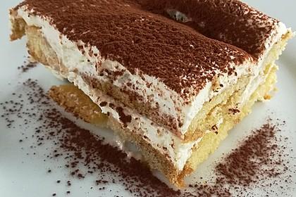 Frischkäse-Tiramisu ohne rohes Ei und ohne Mascarpone 1