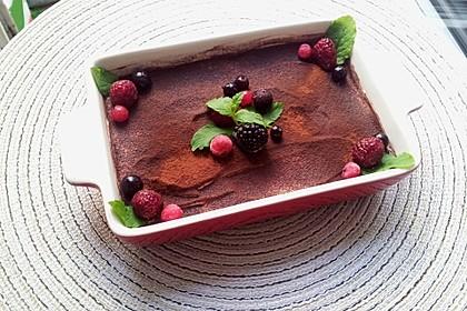 Frischkäse-Tiramisu ohne rohes Ei und ohne Mascarpone